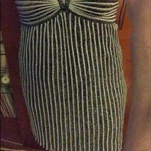 Missoni metallic ribbed knit mini